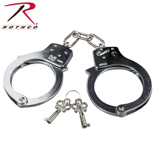 Rothco Double Lock Steel Handcuffs-Silver (10083)