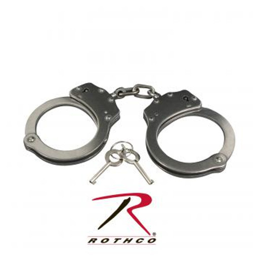 Rothco Stainless Steel Handcuffs-Silver (10588)