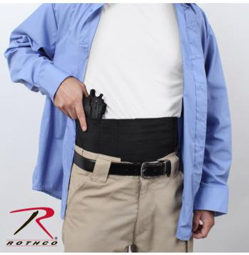 Rothco Ambidextrous Concealed Elastic Belly Band Holster (10769) weapon not included