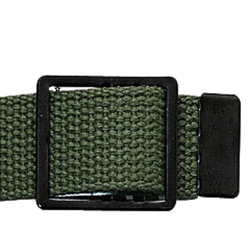 Military Web Belts With Black Open Face Buckle