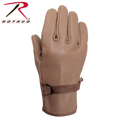 Rothco D3A Type Military Leather Gloves-Coyote *DISCONTINUED BY ROTHCO  *We still have a few pairs left.