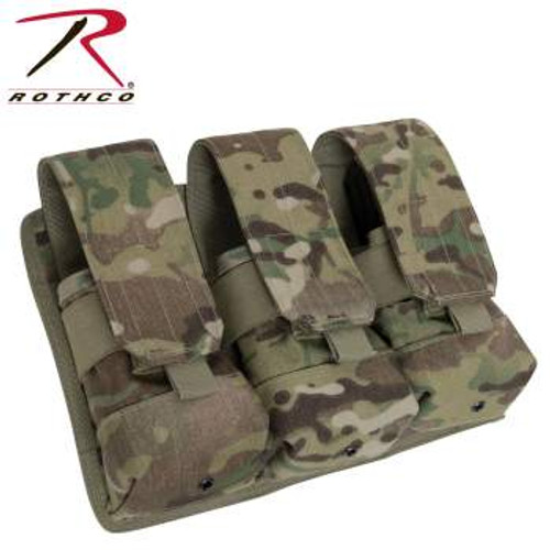 Rothco Universal Triple Rifle Mag Pouch-Scorpion (5393) mags not included