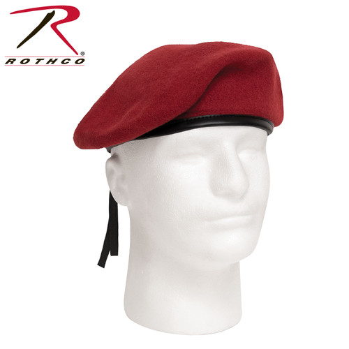 Rothco G.I. Style Wool Beret - Red (4901)
