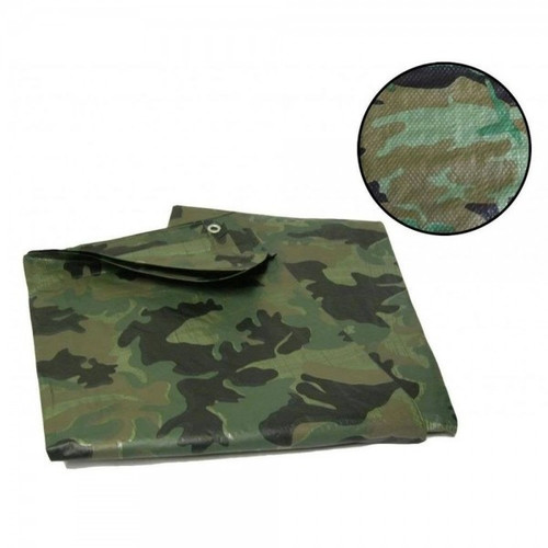 Kid's Army 1.2m x 1.8m Woodland Tarp