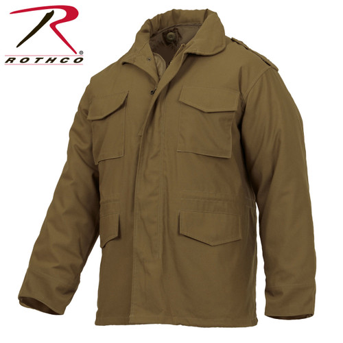 Rothco M-65 Field Jacket with Liner-Coyote Brown (3896)