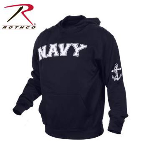 Rothco Military Embroidered Pullover Hoodies-NAVY (2057)  OFFICIALLY LICENSED ITEM