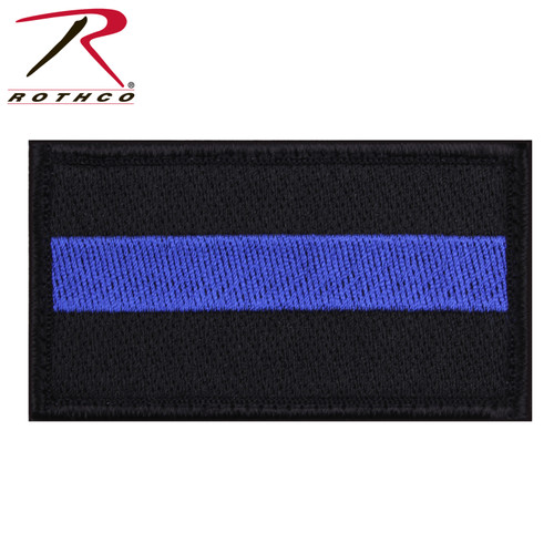Rothco Thin Blue Line Patch - Hook Back (37789) Attaches to any compatible sized loop patch