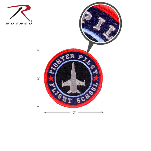 Rothco Fighter Pilot Morale Patch with Hook Back (1883)