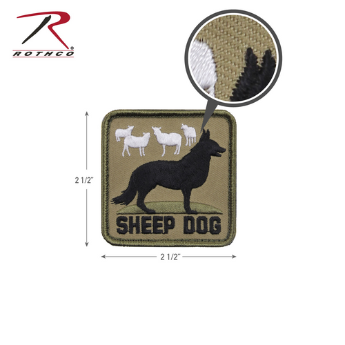 Rothco Sheep Dog Morale Patch with Hook Back (72206)