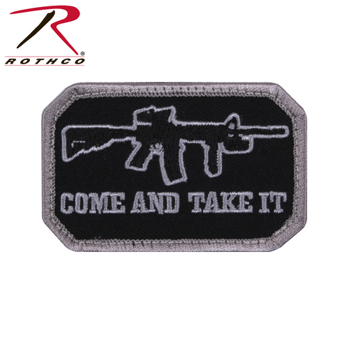 Rothco Come and Take It Morale Patch-Black with Hook Back (1892)