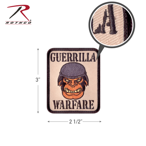Rothco Guerrilla Warfare Morale Patch with Hook Back (73195)