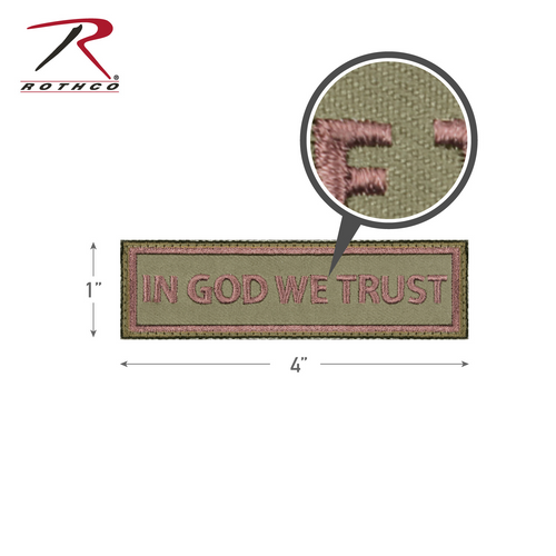 Rothco In God We Trust Morale Patch with Hook Back (1890)
