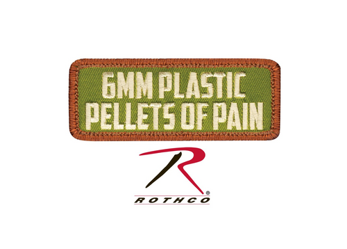 Rothco 6mm Pellets of Pain Morale Patch with Hook Back (72190)