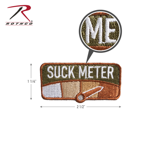 Rothco Suck Meter Morale Patch with Hook Back (1879)