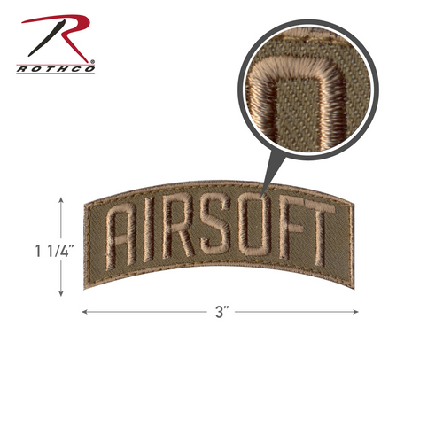 Rothco Airsoft Shoulder Tab Morale Patch with Hook Back (72207)