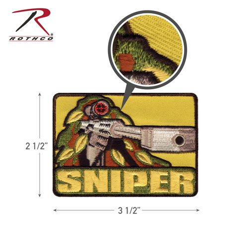 Rothco Sniper Morale Patch with Hook Back (72187)