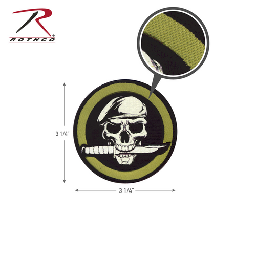 Rothco Military Skull & Knife Morale Patch with Hook Back (72194)