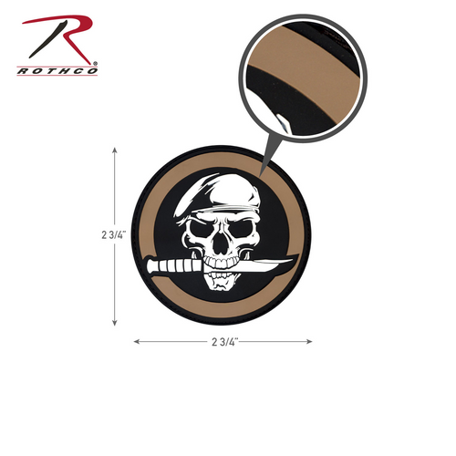 Rothco PVC Military Skull & Knife Morale Patch with Hook Back (72197)