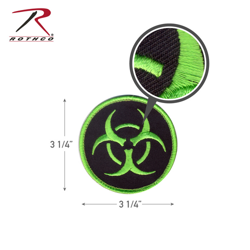 Rothco Biohazard Morale Patch with Hook Back (73192)