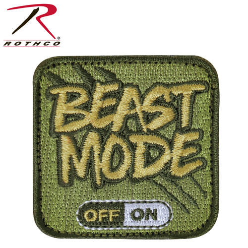 Rothco Beast Mode Patch With Hook Back (1869) NEW FOR 2021