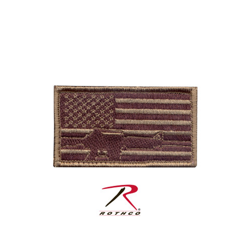 Rothco Subdued Flag & Rifle Morale Patch (72204)