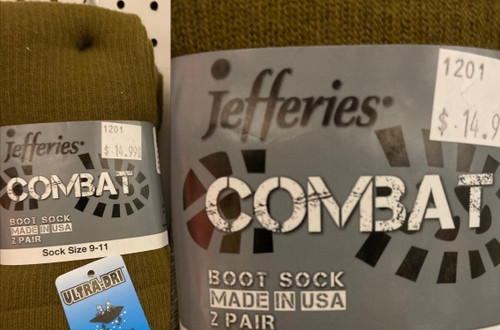 Jefferies Combat Boot Socks-2 Pack (1201)