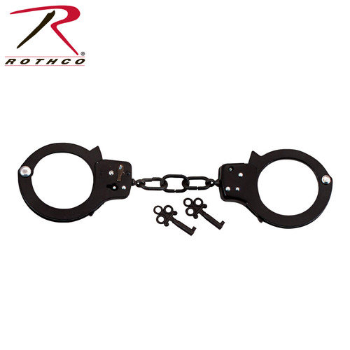 Rothco Double Lock Steel Handcuffs-Black (20083)