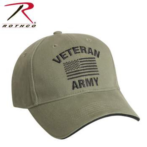 Rothco Vintage Veteran Low Profile Cap-Army (3521)