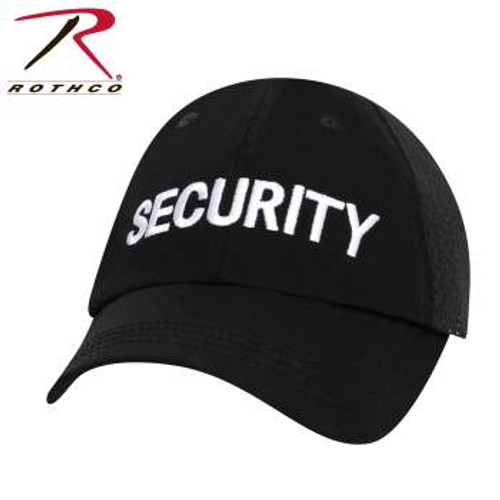 Rothco Security Mesh Back Tactical Cap - Black (3517)