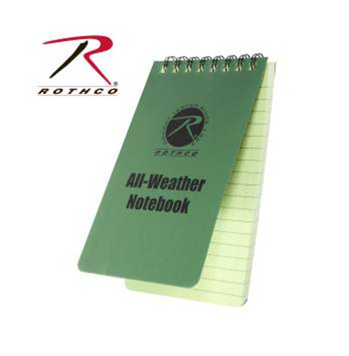 """All Weather Waterproof Notebook-3"""" X 5"""" Olive Drab (470)"""