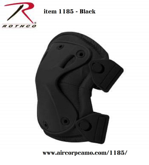 Rothco Low Profile Tactical Knee Pads - Black (1185)