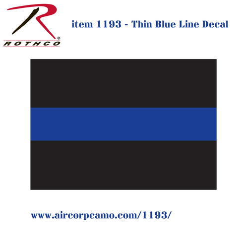 Rothco Thin Blue Line Decal (1193)