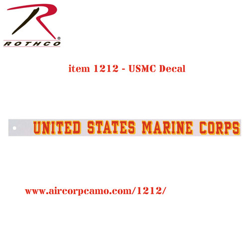 Rothco United States Marine Corps Decal (1212)