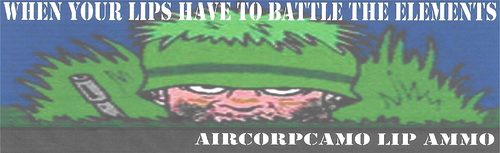 Aircorpcamo Lip Ammo Lip Balm - Green Apple Flavor (8274) Each stick sealed for your protection
