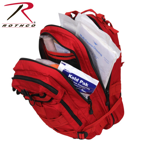 Rothco Military Trauma Kit in Red Medium Transport Pack (1105)