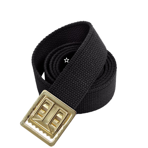 Military Web Belts with Brass Open Face Buckle