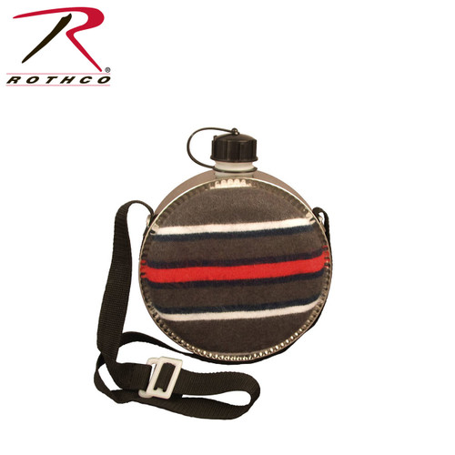 """Inner Body Is Polyethylene / Plastic , Outer Body Is Tinplate , Outside Fabric Cover Is Terylene & Acrylic , """"BPA Free"""" Complies With FDA Specifications - Safe For Food Contact , Blanket Covered, Poly Lined, Adjustable Web Shoulder Strap , Screw-On Cap w/ Chain"""