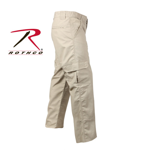 item #4665 KHAKI Rothco Tactical Duty Pants Repels Body fluids, stain resisitent, zipper fly