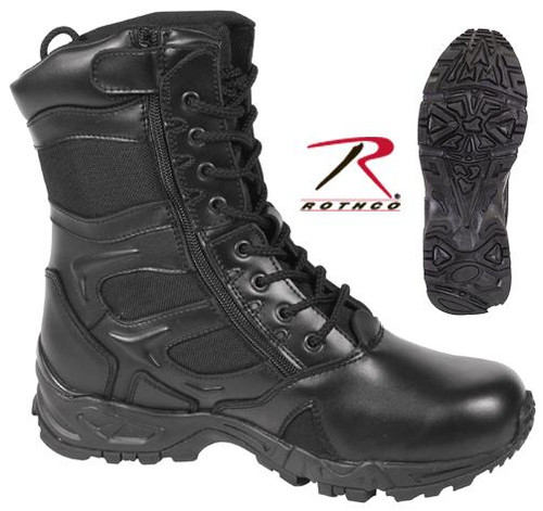 Forced Entry Deployment Boot Black with Side Zipper