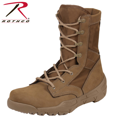 Rothco V-Max Lightweight Tactical Boots-Coyote Brown (5366) AR670-1 Approved