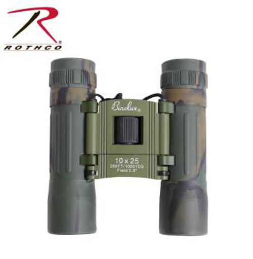 Rothco Optics Compact Camouflage 10 X 25mm Binoculars