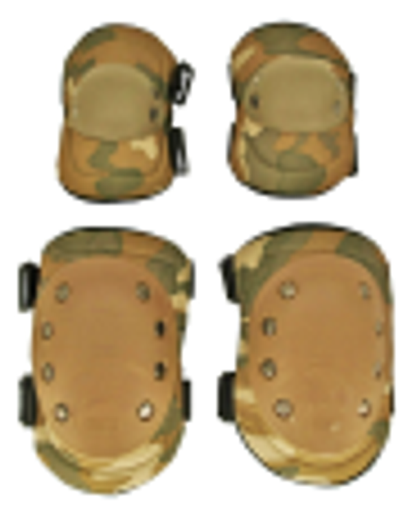 Camouflage Elbow and Knee Pads Set