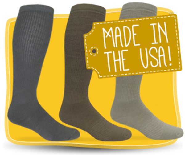 Jefferies Military Style Socks-Made In USA