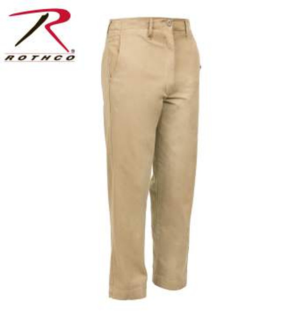 Retro Vintage Style 100% Cotton Twill Chino Pants