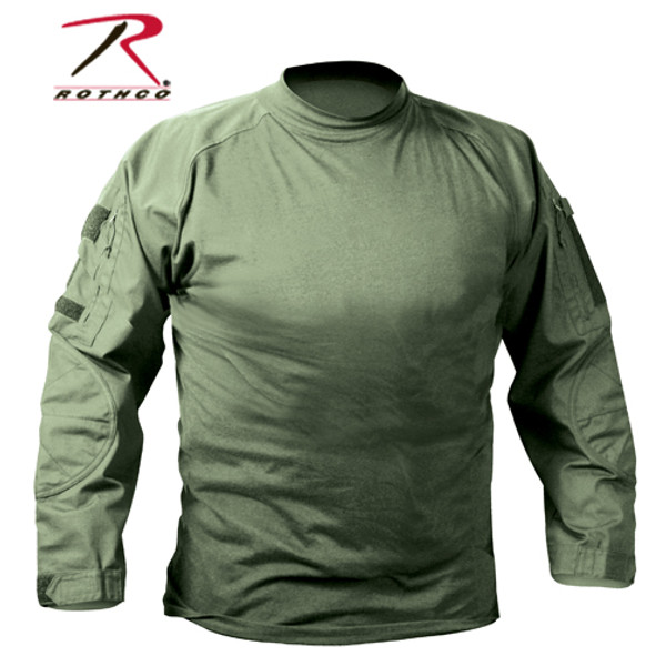 Olive Drab Military Fire Retardant NYCO Combat Shirt