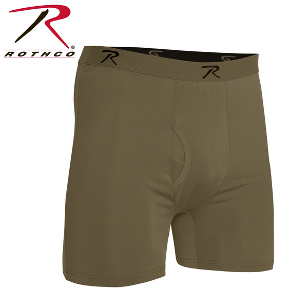 AR 670-1 Coyote Brown Moisture Wicking Performance Boxer Shorts
