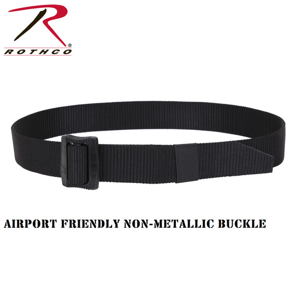 Deluxe BDU Belt With Security Friendly Plastic Buckle