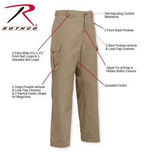 Tactical 10-8 Lightweight Field Pants-Khaki (3761)