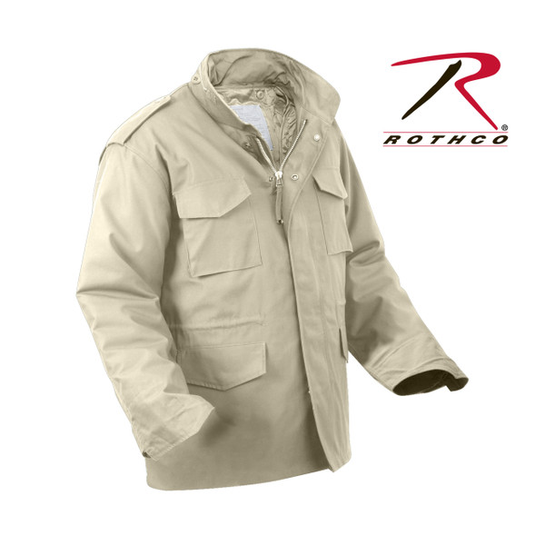 Rothco M-65 Field Jacket with Liner-Khaki Tan(8254) also called Desert Sand