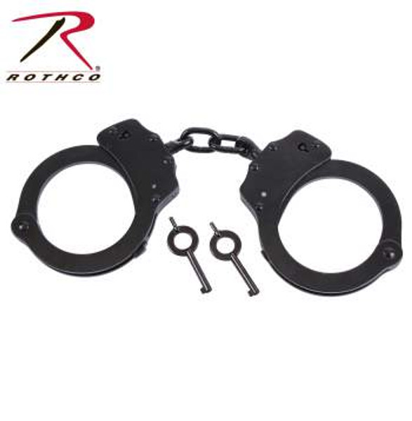 Rothco Stainless Steel Handcuffs-Black (10589)